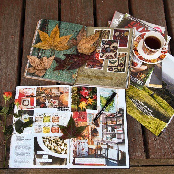 Smash books, magazines, mail art, planners, notebooks, moleskin, Inspiration, travel books, ideas, organization, sketch books, collages, diaries, inspirational photos, autumn