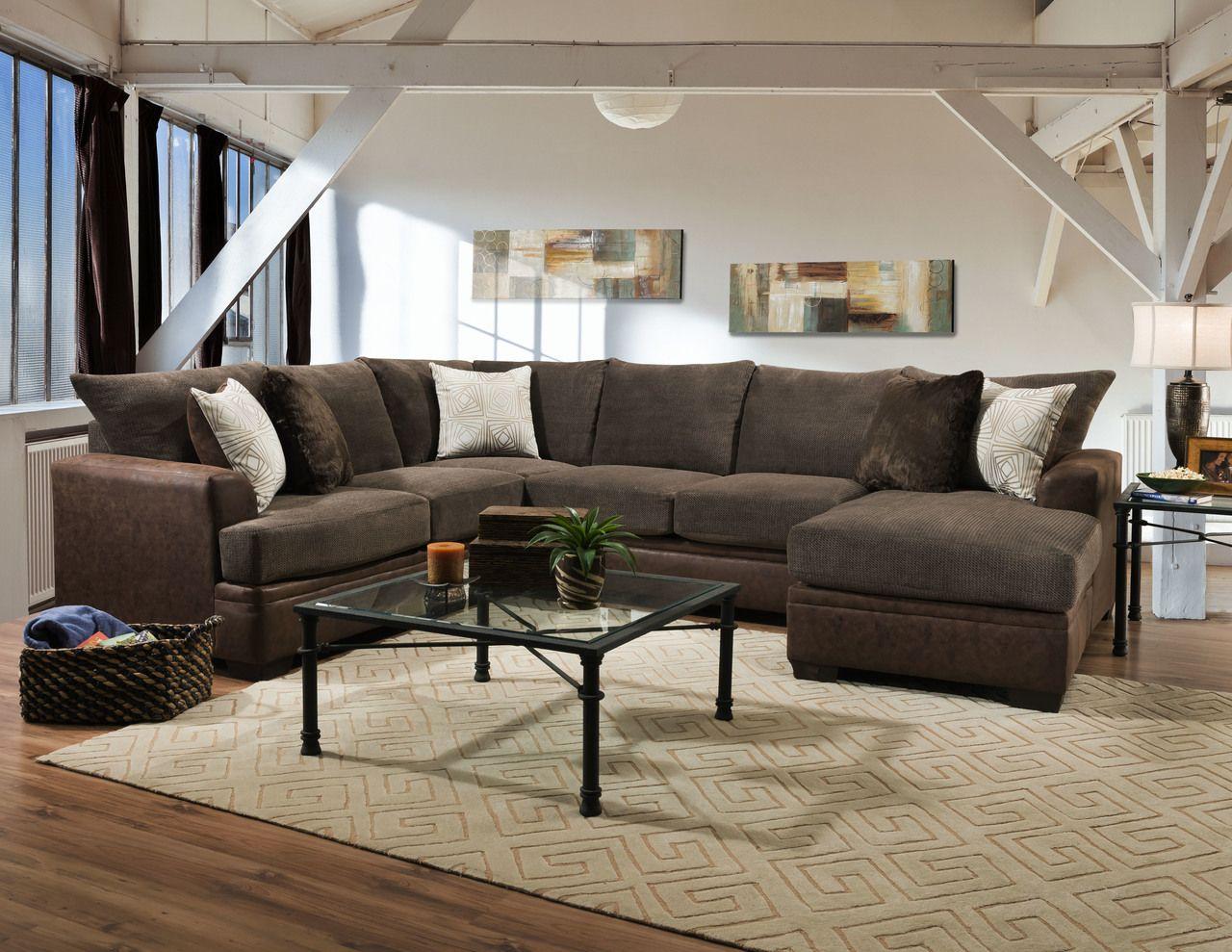 American Furniture Akan Mocha XL Sectional Sofa  Furniture