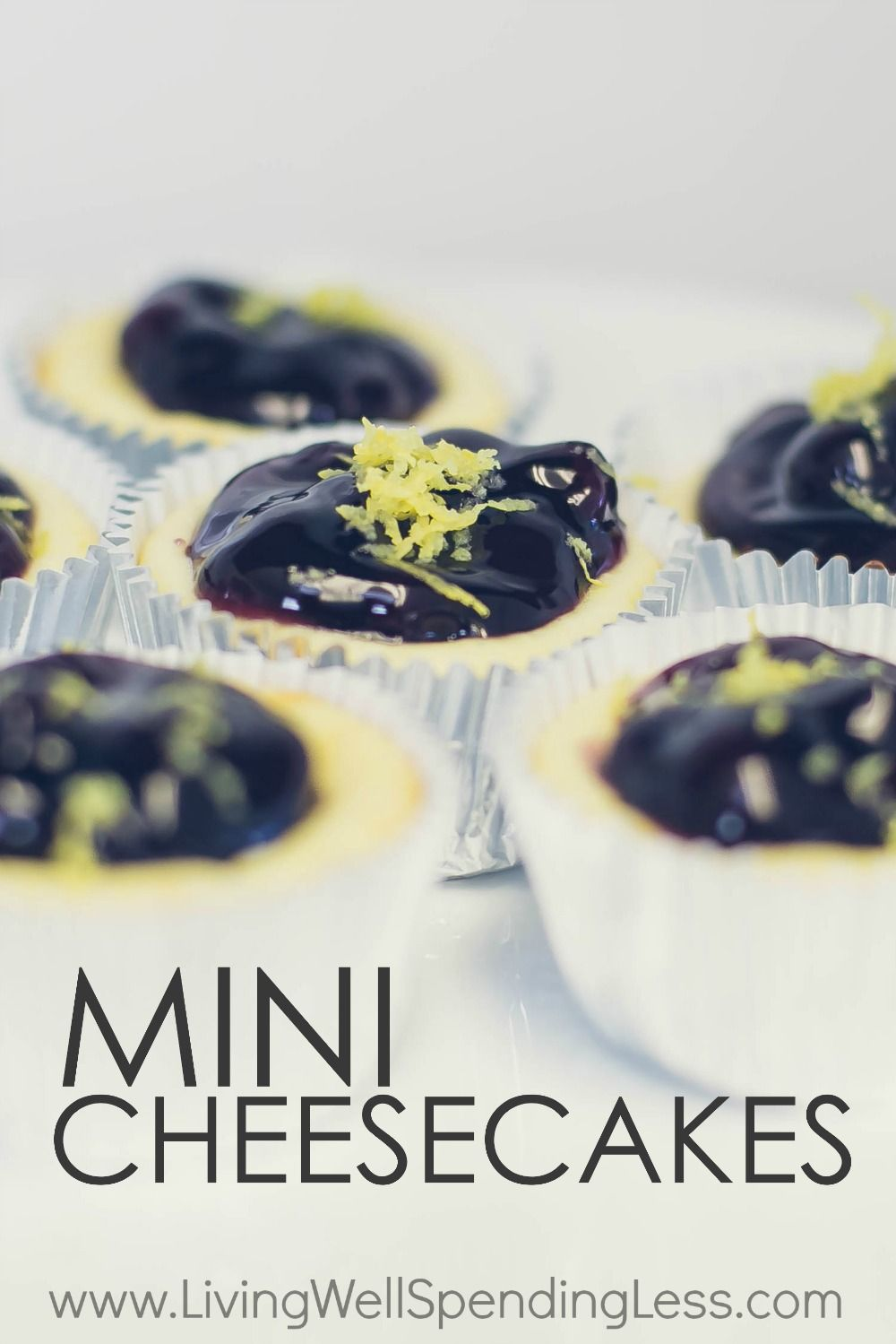 With just six basic ingredients, these ridiculously easy, decadently rich, (and breathtakingly delicious) Mini Cheesecakes comes together in minutes.  It's all the cheesecake flavor you love, with almost none of the effort (and a lot less calories too!) via @lwsl