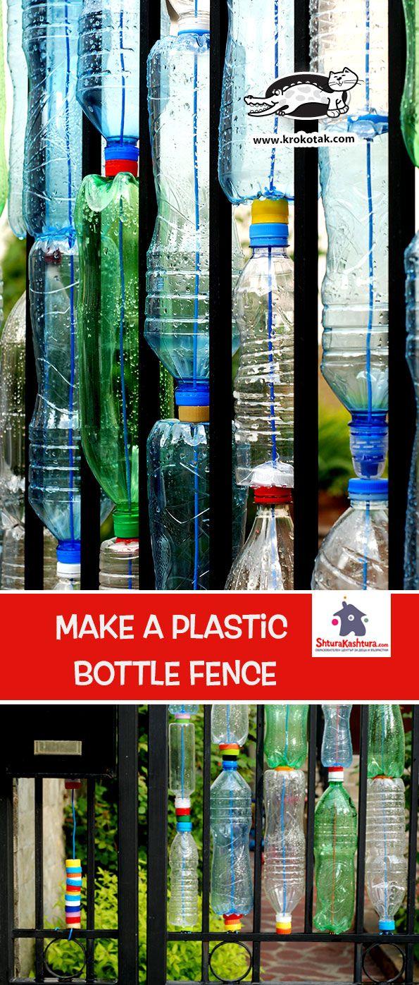 Make a Plastic Bottle Fence