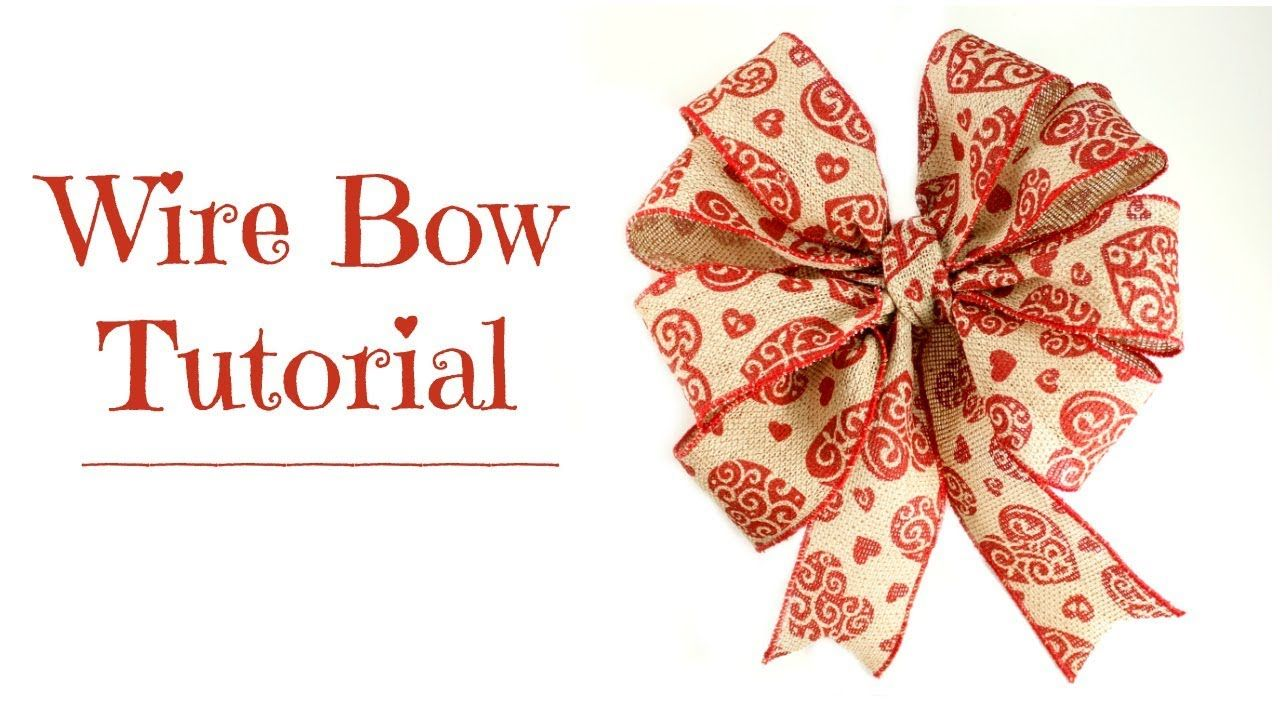 Wire Bow Tutorial How to Make a Bow for a Wreath