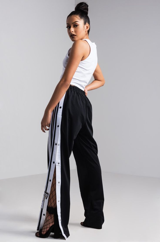 Facet View Adidas Adibreak Monitor Pants in Black Carbon