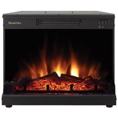 Muskoka Masonry 24 In Electric Fireplace Insert Mfi2500 At The Home Depot Electric Fireplace Fireplace Inserts Fireplace