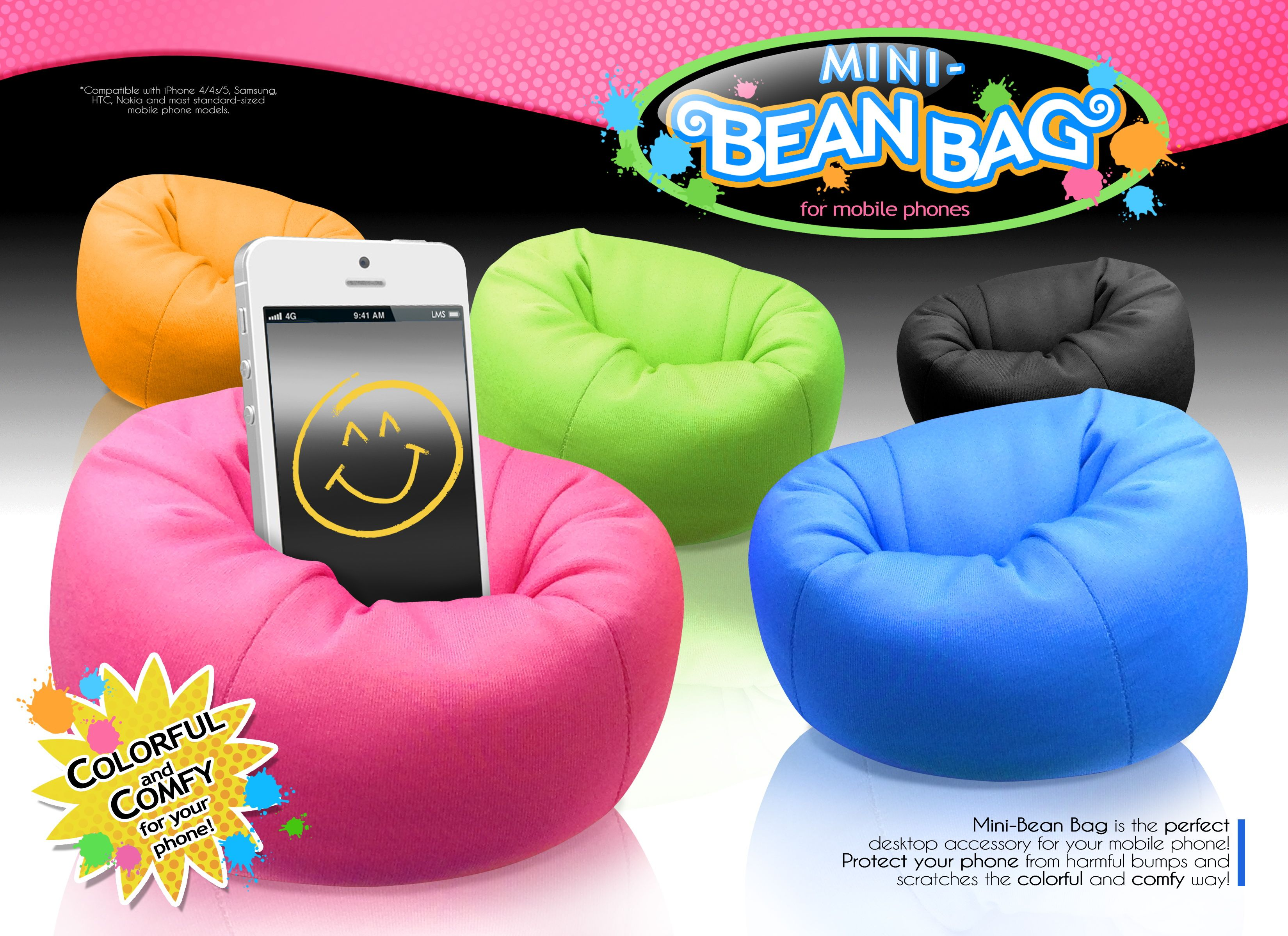 Tiny beanbags that hold your phone or ipod. Soft, fun, trendy.