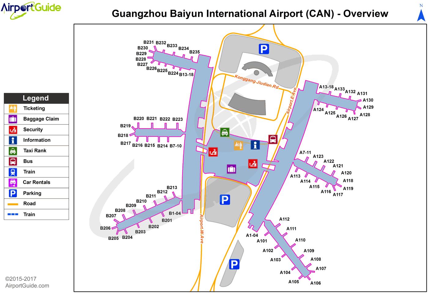 Guangzhou Canton Guangzhou Baiyun International Can Airport Terminal Map Overview Airport Map Airport Guide Outdoor Quotes