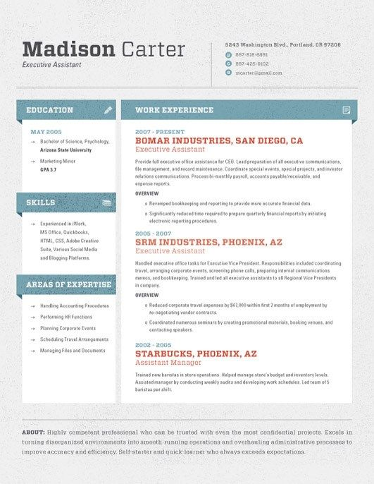 High Quality Custom Resume\/CV Templates Template, Resume - most common resume format