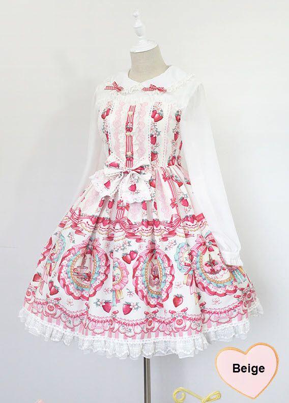 Neverland Lolita -The Rabbits\' Strawberry Garden- Long Sleeves Peter ...