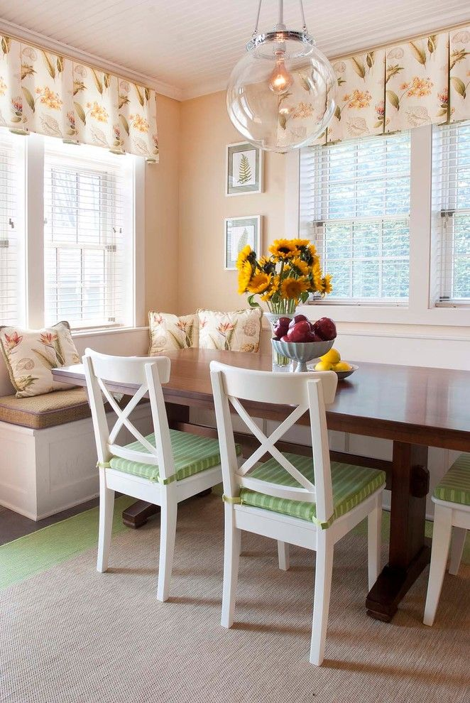 Breakfast Nook Benches Wooden Table Tall Back Chairs