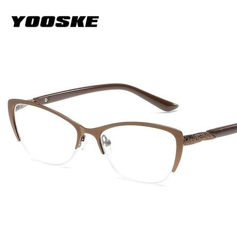 07449c794d14 YOOSKE Retro Cateyes Reading Glasses Women Anti-fatigue Cat Eye Frame  Glasses Presbyopia Prescription Eyeglasses for Reader