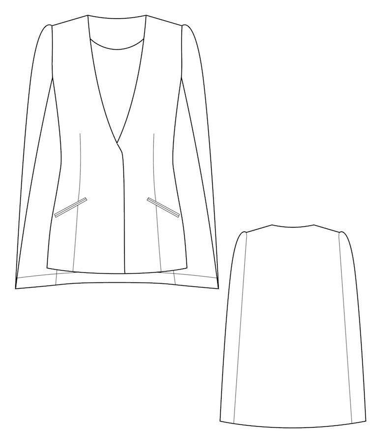Cape blazer #1502 tech | Couture | Pinterest | Diy nähen, Diy ...