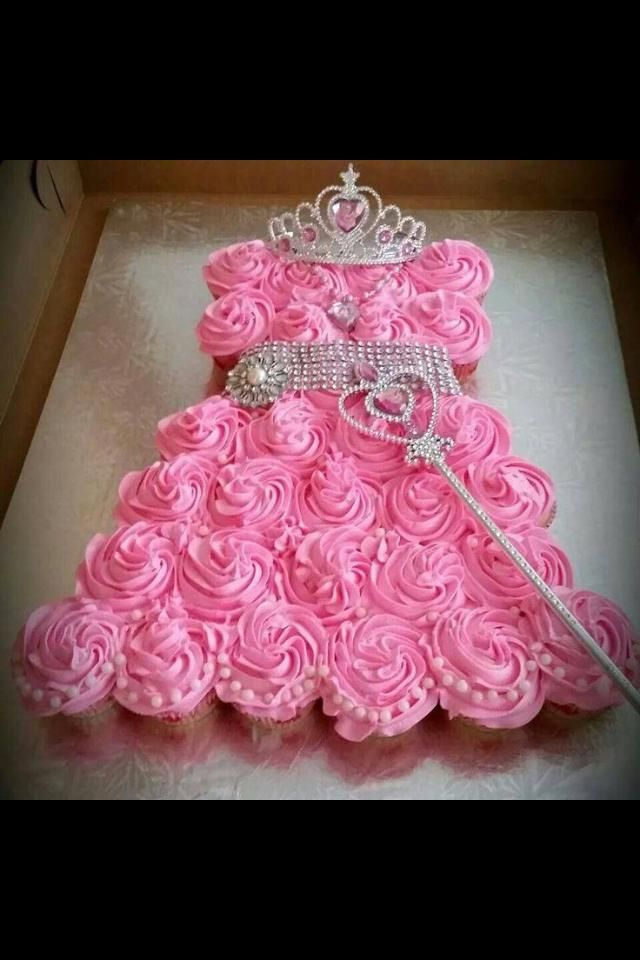 A Princess Frock Butter Cream Icing Cup Cake Caking Culinary