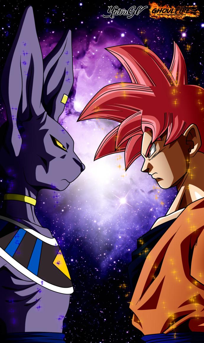 Goku Vs Bills By Ghoulfire Goku Desenho Personagens De Anime Dragoes