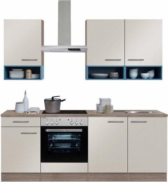 Küchenzeile »Korfu«, mit EGeräten, Breite 210 cm