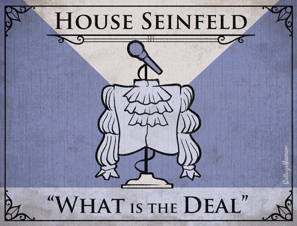 Game of Thrones House Sigils for Other TV Families -Seinfeld