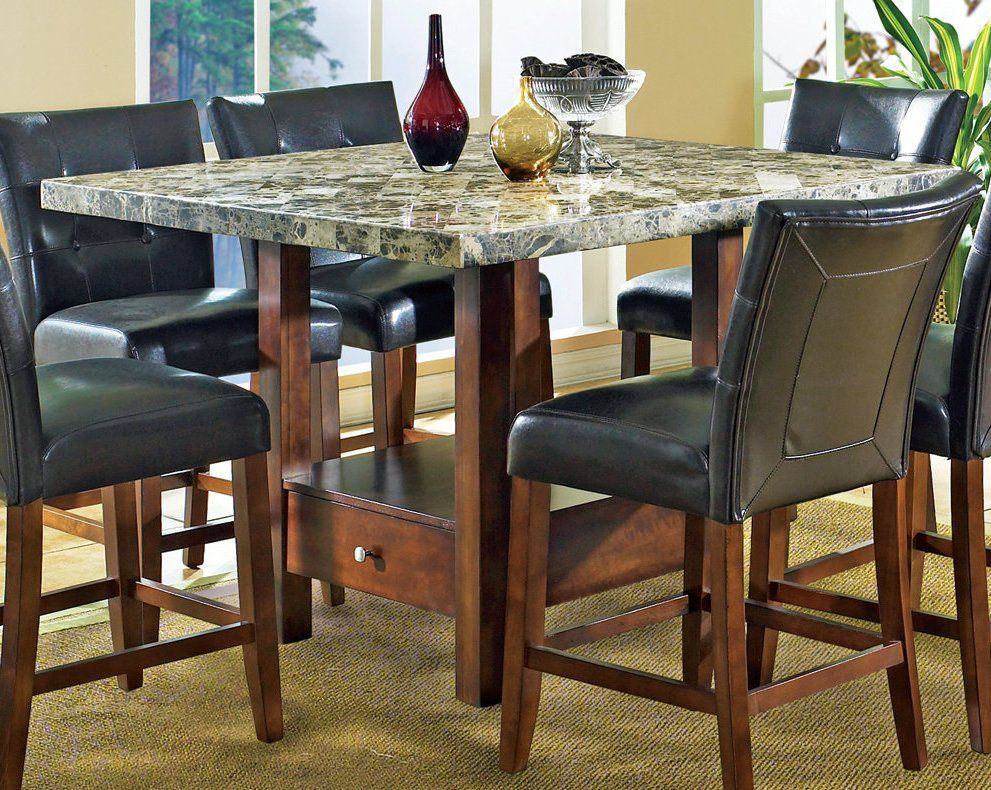 Exceptionnel One Of The All Time Best Choices With A Faux Granite Top And Leather Look  Padded Chairs, Up To 6 Can Gather Around This Table For Hours Of Fun, Foou2026