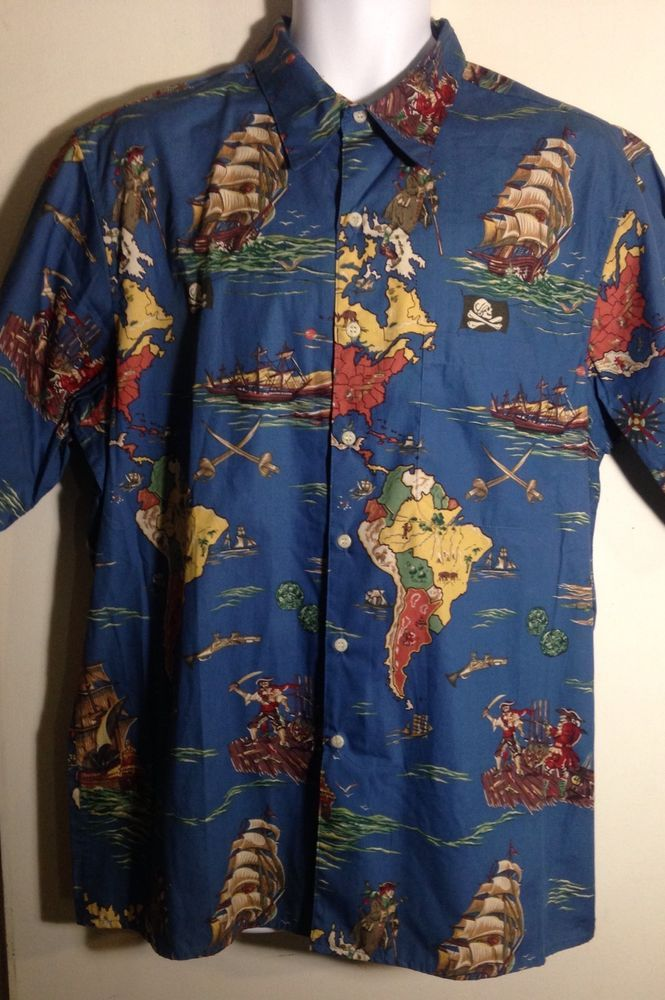 38938af2 Reyn Spooner Africa Pirate Ship Shirt Size L #ReynSpooner #Hawaiian