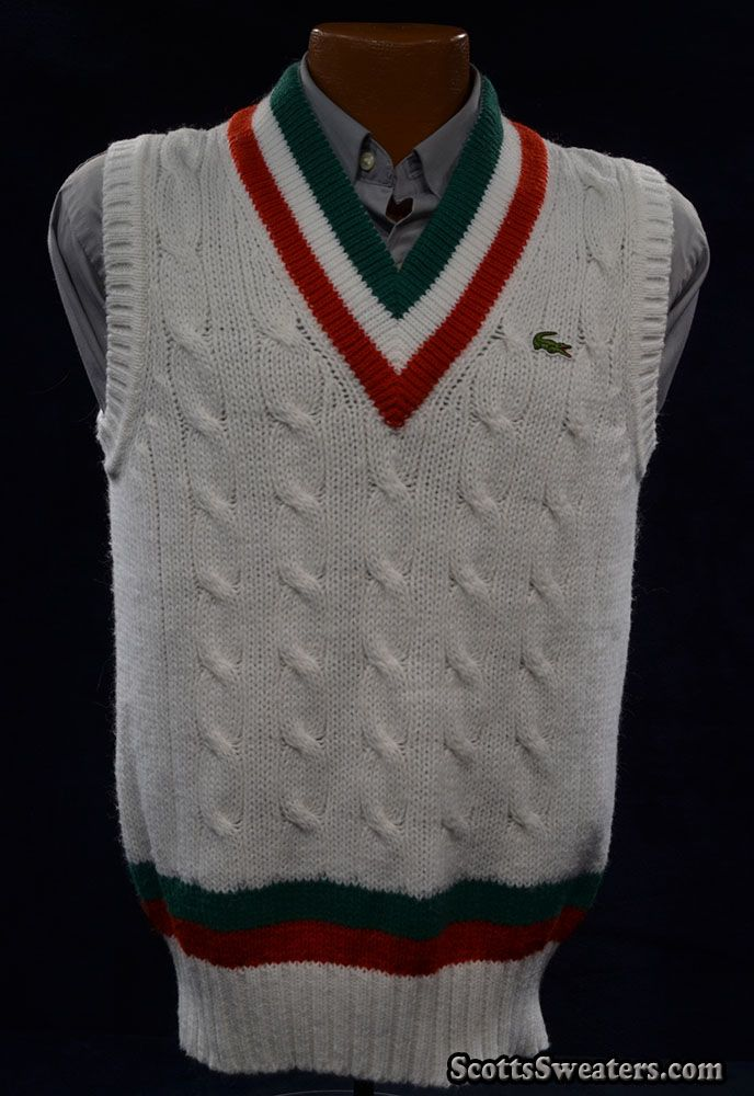 124-005Grn-Red Izod Lacoste Tennis Sweater Vest | Tennis Sweaters ...