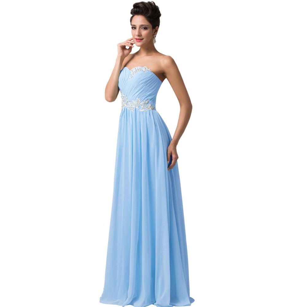 Plus size floor length long prom dresses party evening dress