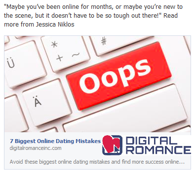 Biggest mistakes in online dating