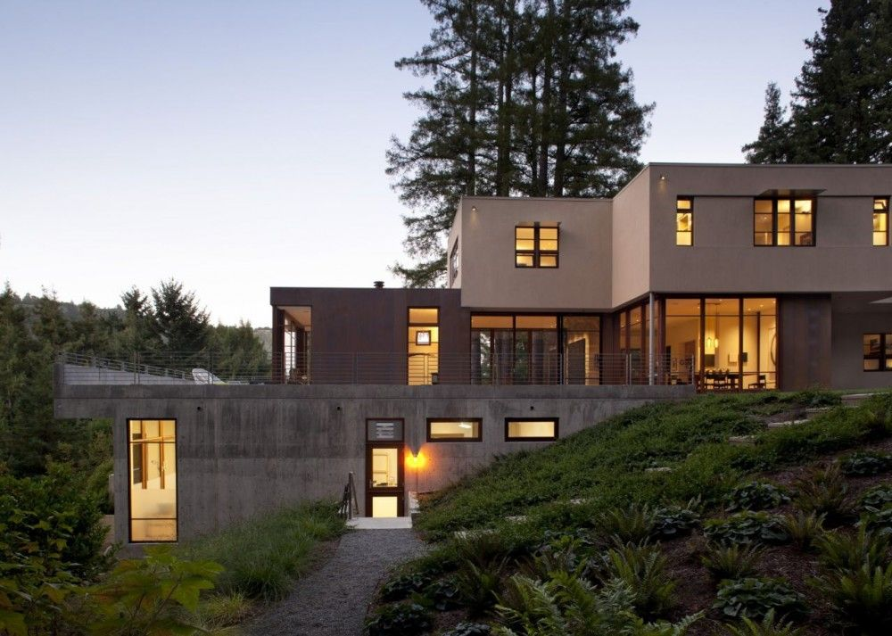 Gallery Of Mill Valley Residence Ccs Architecture 4 House Built Into Hillside Beautiful House Plans Hillside House