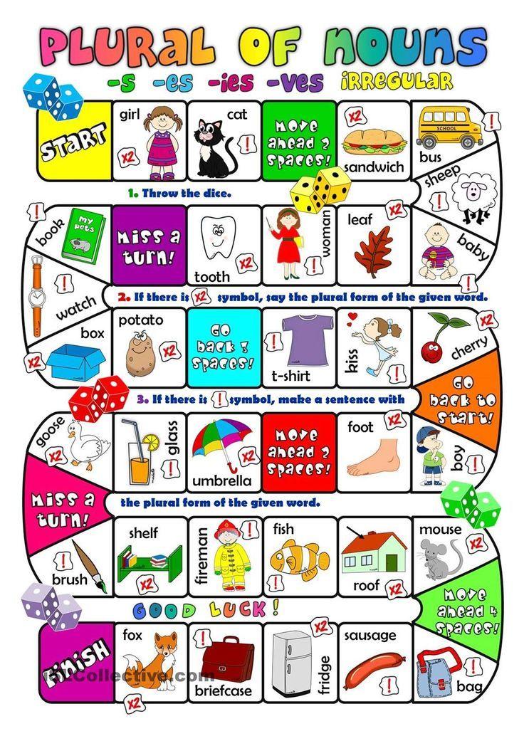 Plural Of Nouns Boardgame Plural Nouns Plurals