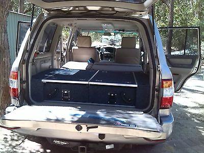 Toyota Land Cruiser 100 Series Rear Storage Drawer System Cargo Drawers 4x4 4wd Toyota Land Cruiser 100 Toyota Land Cruiser Land Cruiser
