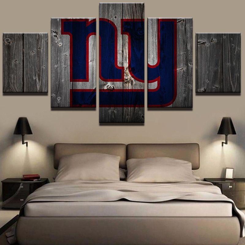 Football Crazy Bedroom  Canvas Print Wall Art Poster