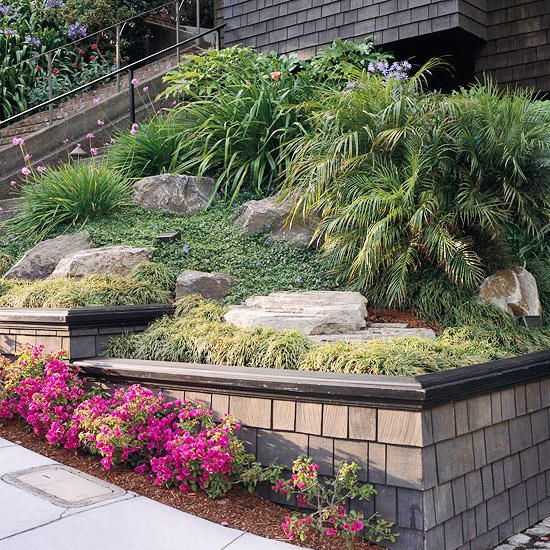 Sloping Garden Ideas And Optimal Solutions For Landscape: Drought-Tolerant Landscaping Ideas