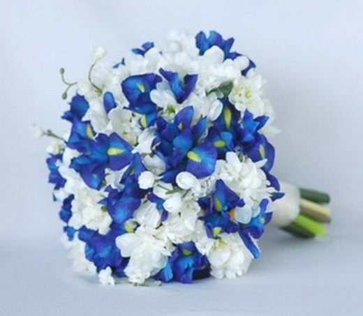 Buchet Mireasa Alb Roz Albastru Căutare Google Flori Wedding