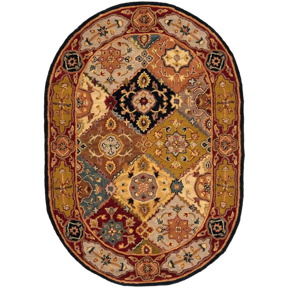 Heritage Multi/Red 7 ft. 6 in. x 9 ft. 6 in. Oval Area Rug