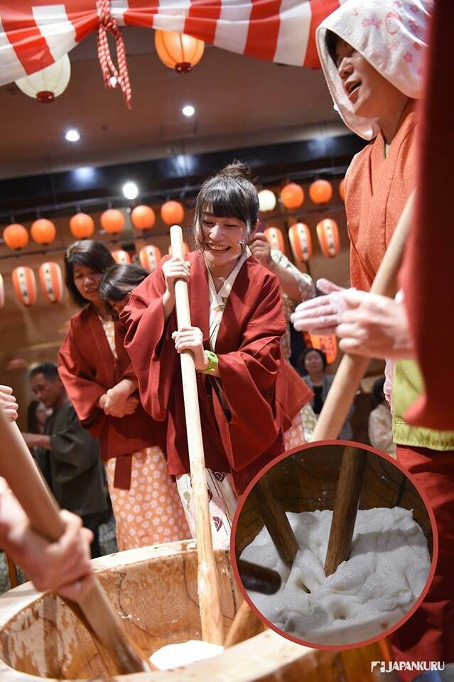 Making Mochi Together Ookawaso Mochi Culture Japan