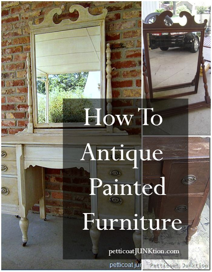 How To Antique Painted Furniture Petticoat Junktion Tutorial Off White Dresser With Finish
