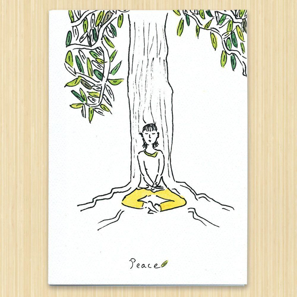 Tree card, Peace greeting card, Buddha card by Rosieswonders on Etsy