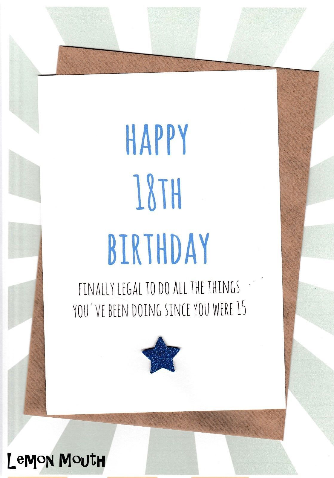3 25 Gbp 18th Birthday Greetings Card Friends Funny Humour 18th Legal Blue 18th Birthday Cards Birthday Greetings Friend Birthday Greeting Cards