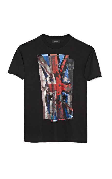Shop Black Union Jack T-Shirt by Givenchy Now Available on Moda Operandi