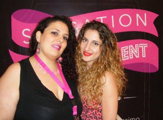 Da destra la candidata Norcia Anna insieme alla sua modella che esibisce il trucco ultimato
