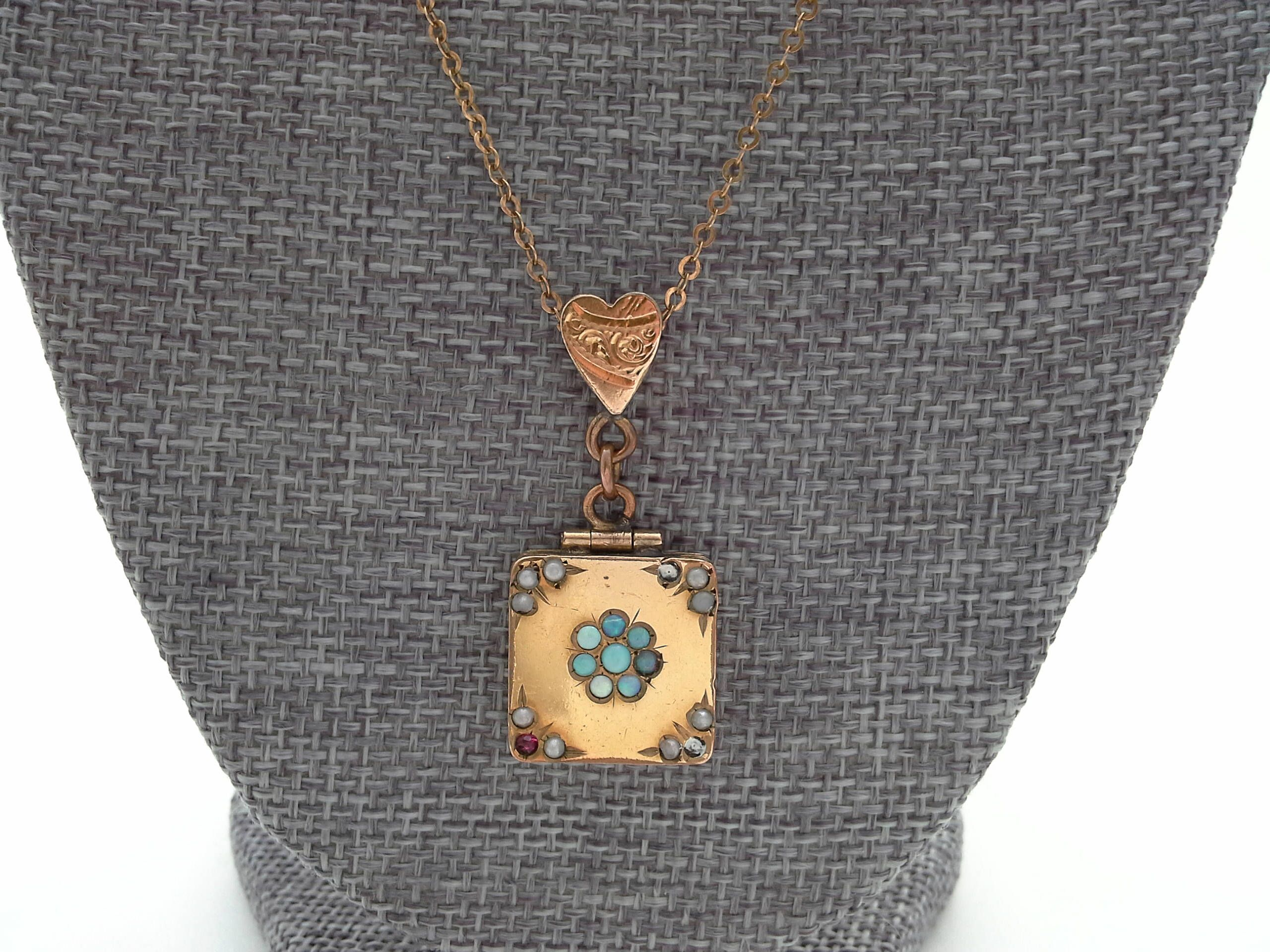 lockets gold square cable yurman with david locket sculpted pin