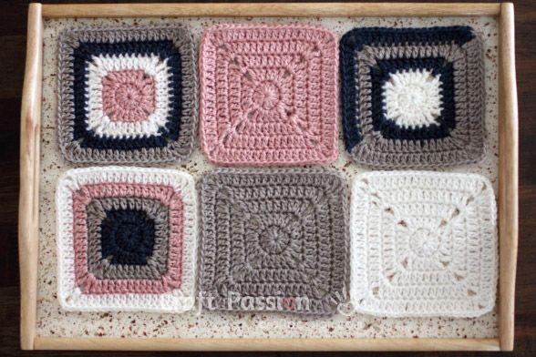 Solid Granny Square - Free Crochet Pattern | Granny square crochet ...