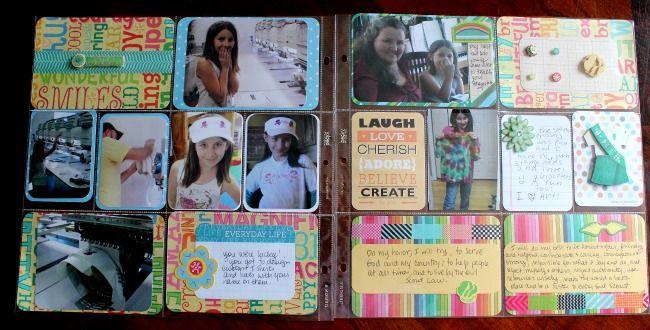 Project Life Girl Scout Badge Spread | FreshlyHatchedStudio.com