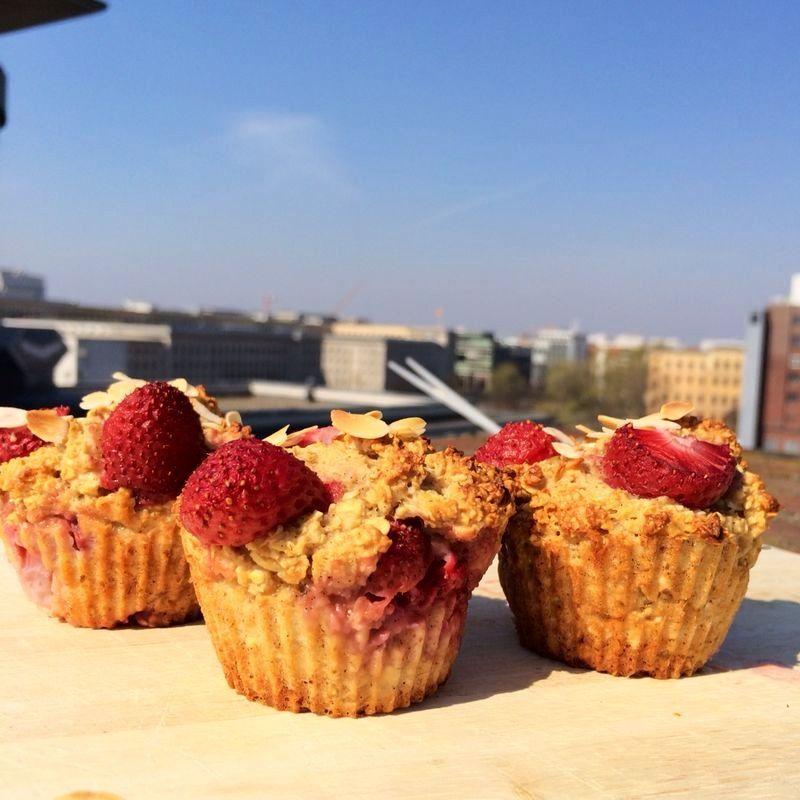 Erdbeer Haferflocken Muffins Fitness Rezept Pinterest