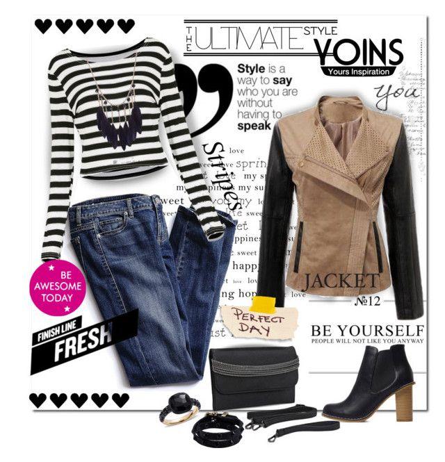 YOINS Color Block Jacket