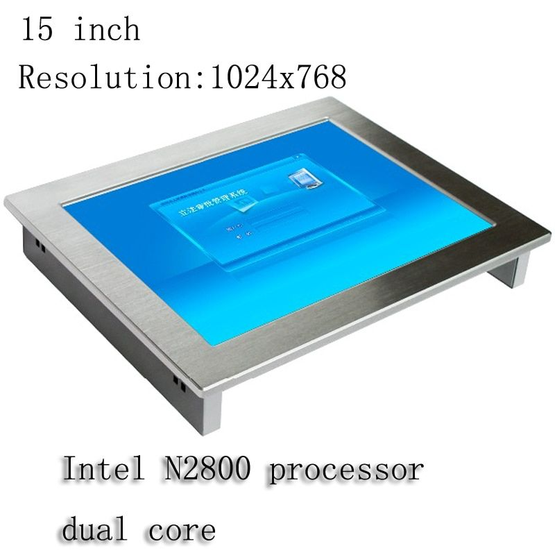 Fanless 15 Inch Ip65 Waterproof Monitor Mini All In One Pc Industrial Panel Pc Touchscreen Lcd Display In Industrial Computer Support Rugged Tablet Pc Monitor
