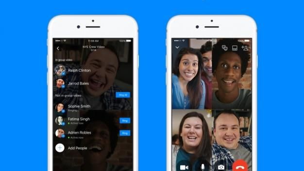 Videochats grupales en Facebook Messenger