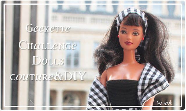 Barbie baby doll en mode geek: tuto en toute simplicité ( #ChallengeDollsCoutureDIY 6) #dollscouture