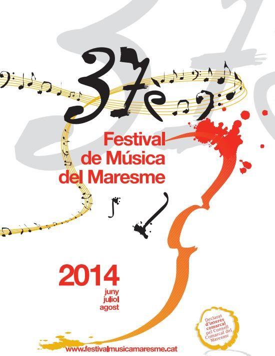 37è Festival de Música del Maresme 2014 (des del 14 de juny fins al 30 d'agost)