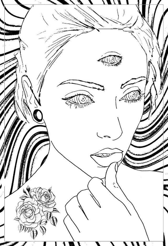 30+ Inspirationsbild von trippy Malvorlagen - coloring ...