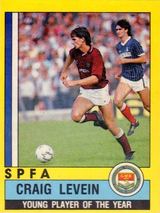005 - Craig Levein (Heart Of Midlothian) - SPFA Young Player Of The Year 1985-86; League appearances 1985-86 - 33; League goals 1985-86 - 2; League Cup goals 1985-86 - 0; Scottish Cup goals 1985-86 - 0.