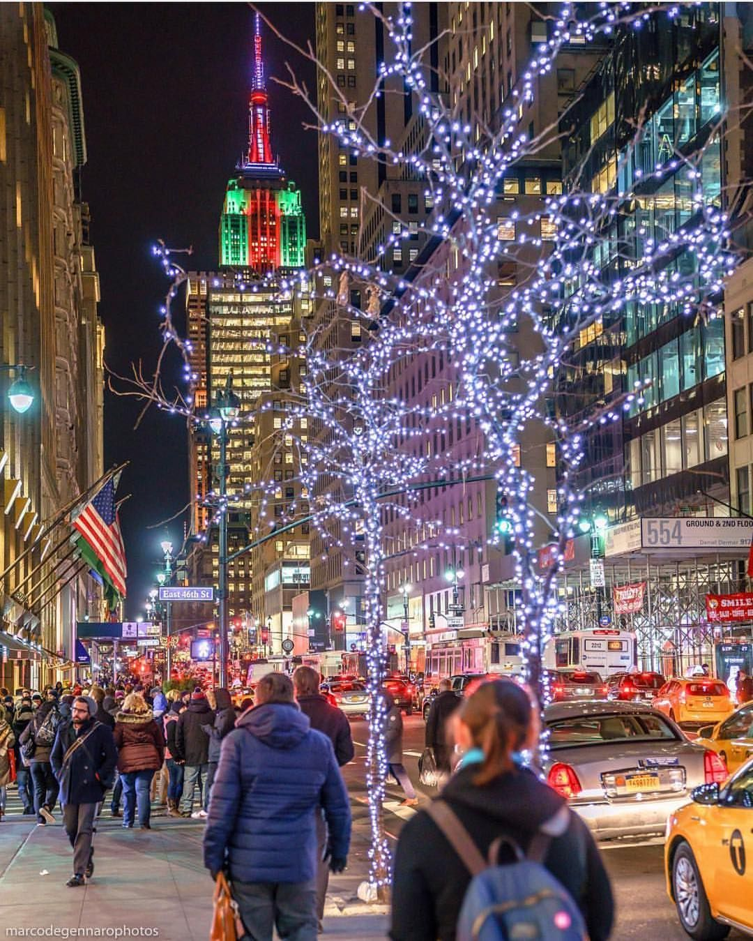 Christmas Lights all over New York by @marcodegennarophotos in 2018 ...