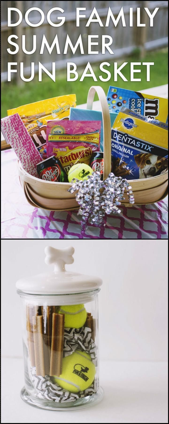 70 Unique Gift Basket Ideas You Can Make At Home Dog Family Summer Fun Basket Gi…