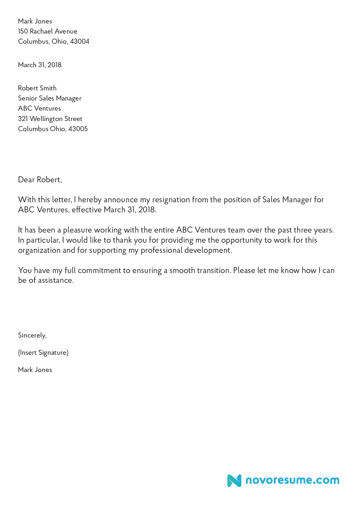 How to Write a Letter of Resignation – 2019 Extensive Guide ...